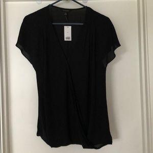 Black wrap blouse - banana republic size M.